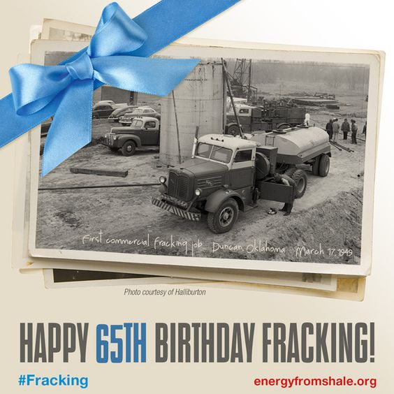 Happy 65th Birthday #fracking!