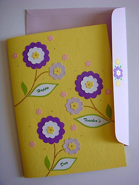 Delightful Teachers Day Card Making Ideas Part - 10: Lin Handmade Greetings Card: Teachers Day Pop Up Flowers Azlina Abdul .