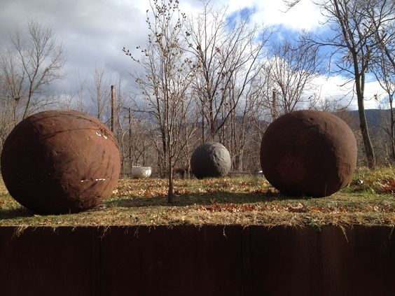 Wow! Somehow these amazing stones in Costa Rica ended up here in Beacon, NY.