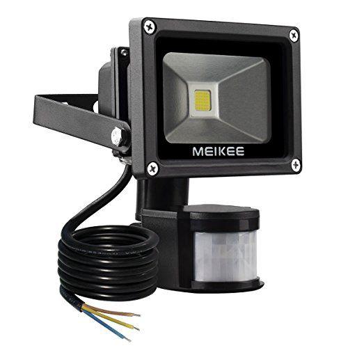 Meikee Projecteur Led Detecteur De Mouvement 10w Waterproof Led Lights Motion Sensor Lights Led Flood Lights
