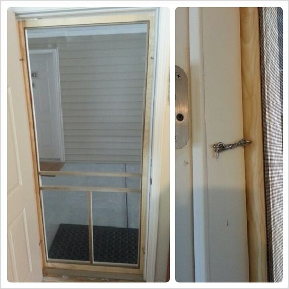 easy diy screen door for an apartment can only be used