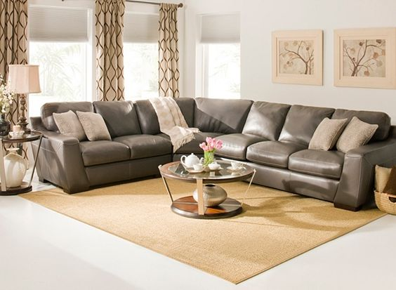 Leather Sectional Sofa | Sectional Sofas | Raymour and Flanigan Furniture u0026 Mattresses | living room | Pinterest | Leather sectional sofas Leatu2026 : raymour flanigan sectional - Sectionals, Sofas & Couches