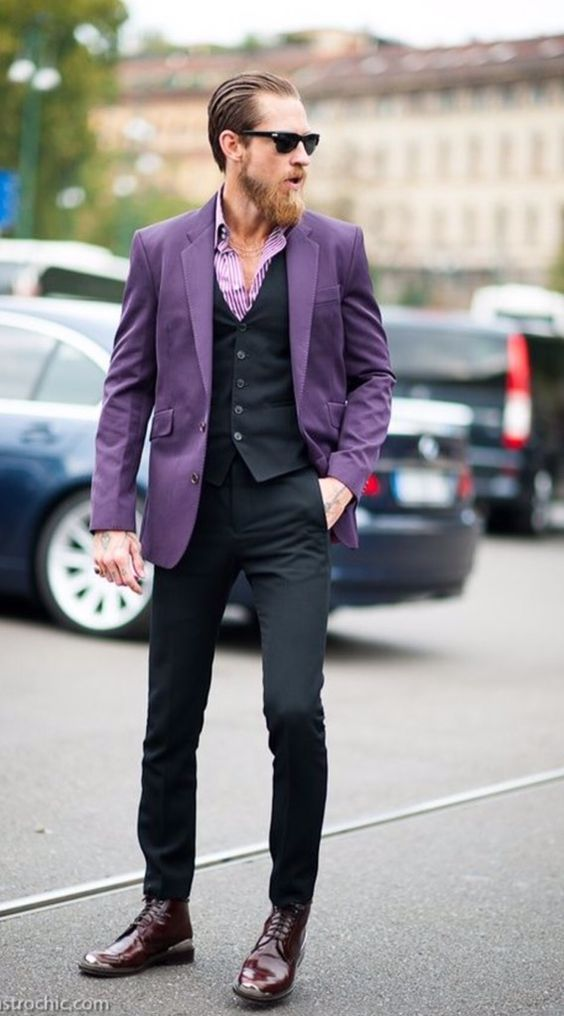 Resultado de imagem para moda masculina look social mesma cor
