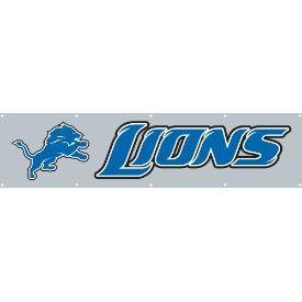 Detroit Lions 8 Foot Banner