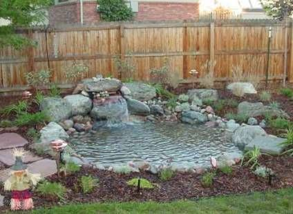 Small water feature ideas the rocks and gravel for Pond water features ideas