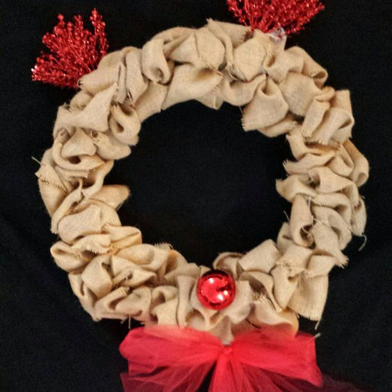 Reindeer Wreath by KDahlkeCraftingCo on Etsy