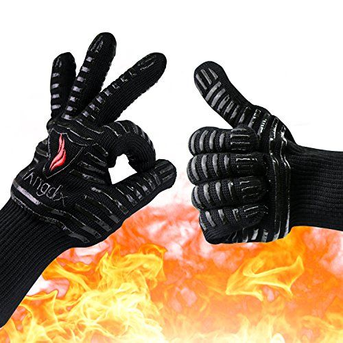 Oven Gloves Heat Resistant Mitts Extreme 932 F Bbq Cooking Gloves