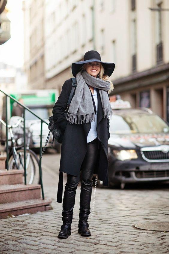 Tem que ter: Calça de couro preta - Must-have: Black leather pants