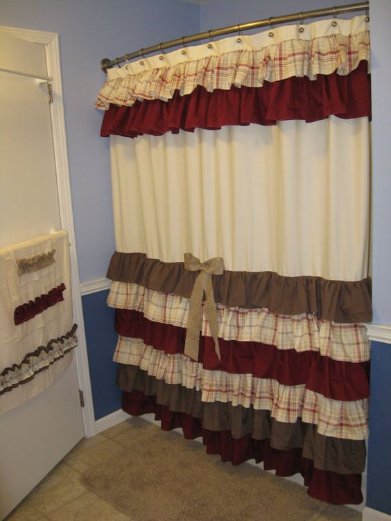Shower Curtain Cascading Ruffles Custom Designer by CountryRuffles ...