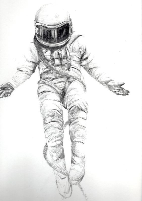 detailed drawings of astronauts - photo #26
