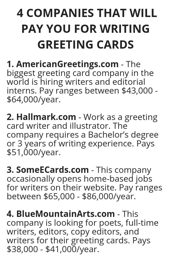 4 Companies That Will Pay You For Writing Greeting Cards How To