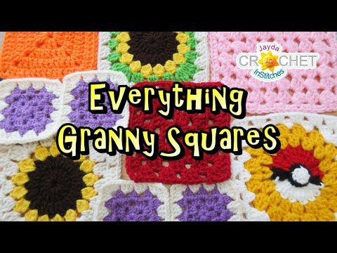 Everything Granny Squares Institches Family Crochet Party 35 Youtube Granny Square Granny Square Crochet Christmas Crochet Patterns