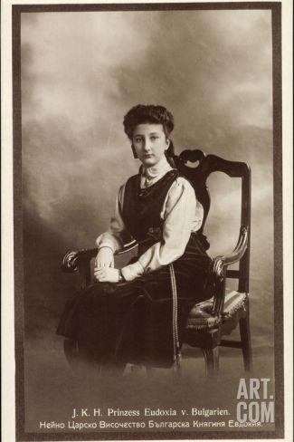 Ak J.K.H. Prinzessin Eudoxia Von Bulgarien, Sitzportrait Photographic Print at Art.co.uk