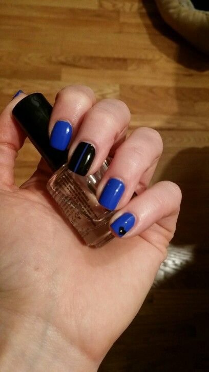 One Line Nail Art : Thin blue lines line and the on pinterest