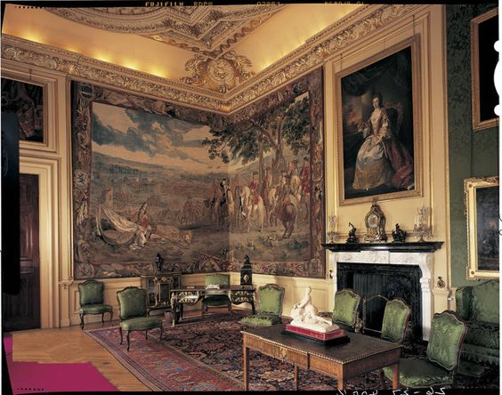 The Green Writing Room at Blenheim Palace: