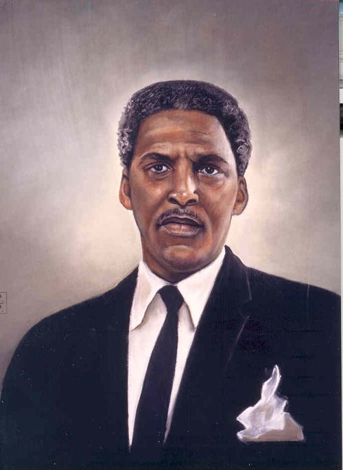Bayard Rustin (b.1912 - d.1987) was an American leader in social movements for civil rights, socialism, pacifism, and gay rights.  He was a leading activist of the early 1947–1955 civil-rights movement, helping to initiate a 1947 Freedom Ride  challenging racial segregation on interstate buses. He was a key strategist of the civil rights movement from 1955–1968 and chief organizer of the 1963 March on Washington for Jobs and Freedom. In the 1970s, he openly supported gay and lesbian cau