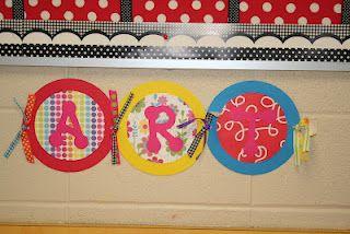 Mrs. Lee's Kindergarten: Center Banners How To