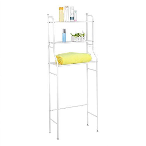 Greensen 3 Tier Bathroom Shelf Space Saver Toilet Towel Storage Holder Over Bathroom Shelf Organizer Shelves Over Toilet Room Shelves Bathroom Storage Racks