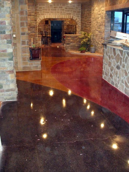 Concrete floors concrete ideas pinterest stained for Black stains on concrete