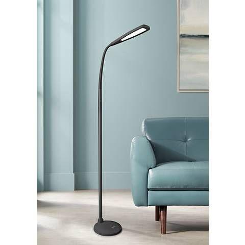 Ottlite Felix Led Gooseneck Task Floor Lamp Black 1r268 Lamps Plus Black Floor Lamp Task Floor Lamp Floor Lamp