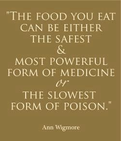This is so true. You really are what you eat.