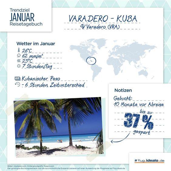Trendziel im Januar: Varadero auf Kuba. Günstige Flüge finden: http://flug.idealo.de/