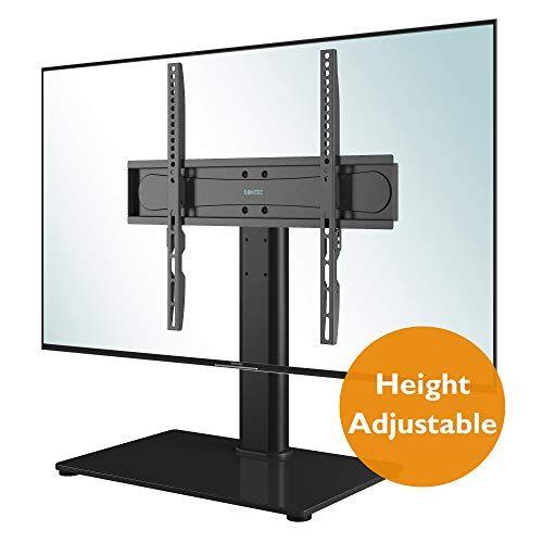 23 99 Bontec Universal Table Top Pedestal Tv Stand With Bracket For 26 55 Lcd Tv Stand With Bracket Lcd Tv Stand