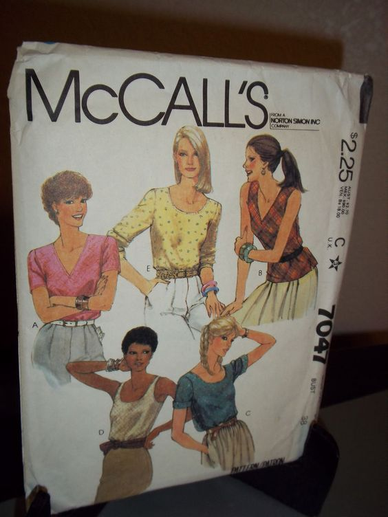 McCall's #7047 Sewing Pattern Misses Blouse Size C 16  Uncut Factory Folded #McCalls