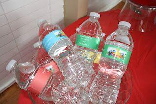 Sesame Street Water Bottle Labels
