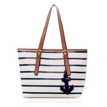 Stripe Casual y colgante de diseño de las mujeres del bolso de hombro para Vender - La Tienda En Online IGOGO.ES