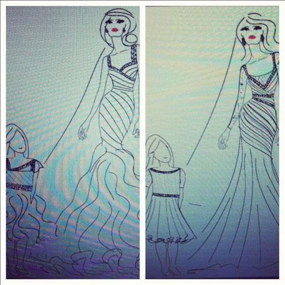 A few sketches for Bachelorette Emily Maynard and her daughter Ricki:)