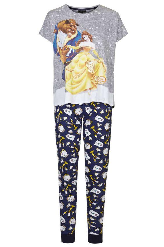 Beauty and The Beast Pyjama Set - Nightwear - Clothing - Topshop