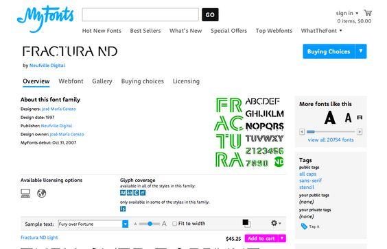 Fractura ND™ - Webfont