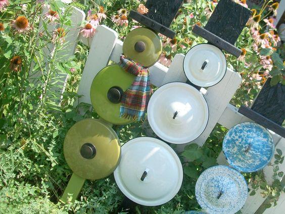 Snowman Pot Lids And Pots On Pinterest