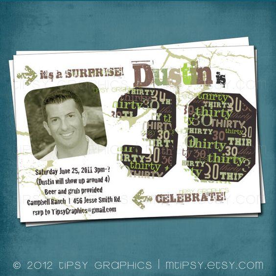 Dirty Thirty Fun Guys 30th Birthday Gift I Ll Need: The Dirty Thirty. 30th Birthday Party Invite Surprise
