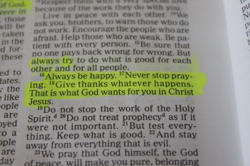 """""""Always be happy, never stop praying..."""""""