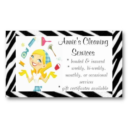 Cleaning services maid business card business cards for Cleaning cards ideas