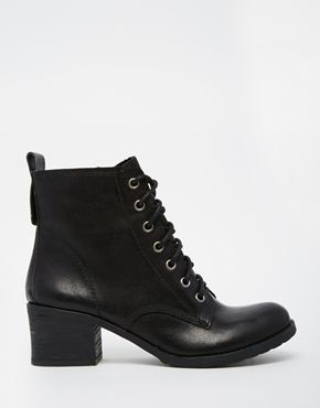 Head Over Heels By Dune Peppo Black Lace Up Biker Boots