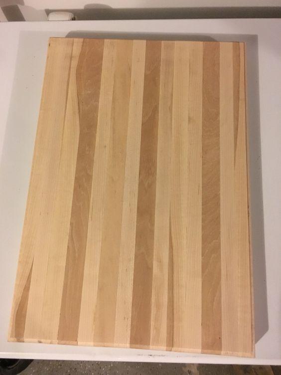 Hickory maple chopping block