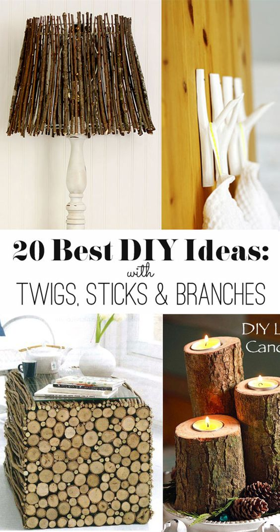 20 ideas to make with twigs sticks and branches crafts for Diy twig decor