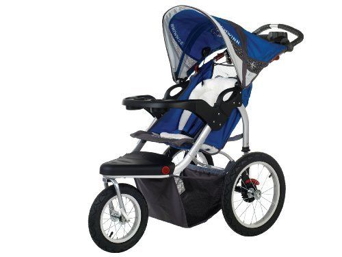 Schwinn Turismo Swivel Single Jogger, Blue/Gray by Pacific Cycle. $177.94. Amazon.com                The wide tread tires of the Schwinn Turismo Swivel Single Jogger are great for handling even the roughest terrains. The 12-Inch front swivel wheel locks forward for added control and stability, while the 16-Inch rear wheels glide with ease for effortless pushing. This single stroller features a lightweight aluminum frame.  Features:  Aluminum frame is lightweight f...