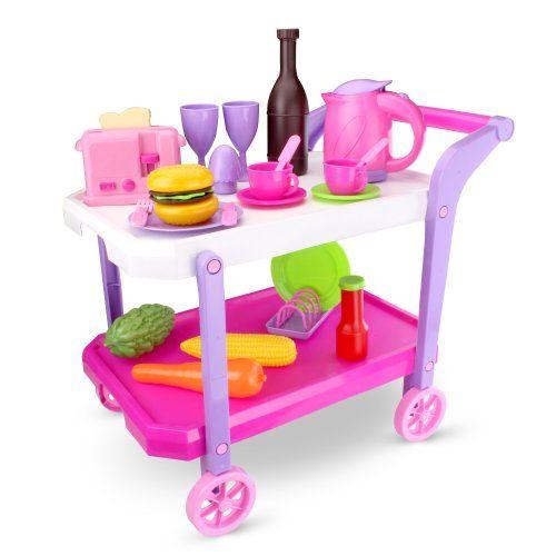 Carrito de servicio de color rosa este carro de cocina est equipado con un hervidor para el - Carrito para cocina ...