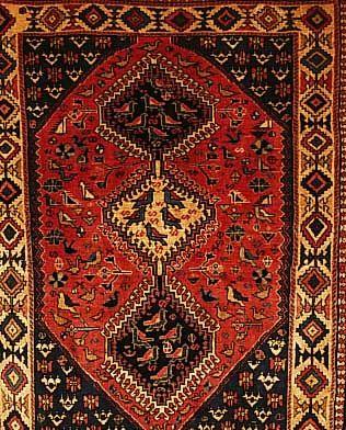 Yalameh,Persien ca 111 x 83 cm. Wolle auf Wolle.