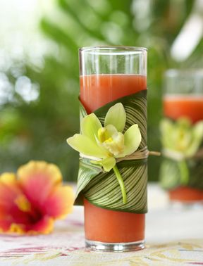 Bali Hai Hawaiian luau cocktail... i'm pinning this more about the styling than anything else