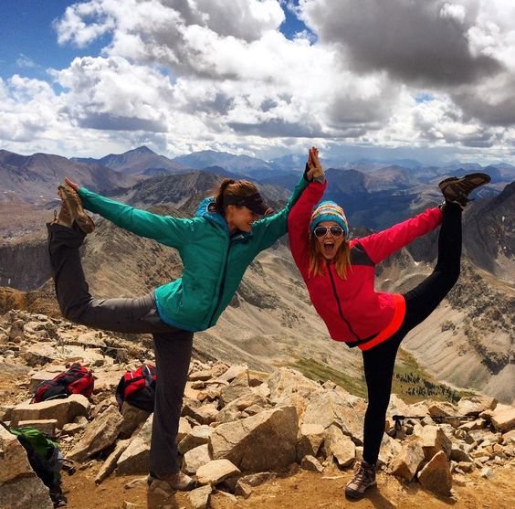 Girls who climb mountains together stick together. Cheers to @taradactyl02 one of my first friends in Colorado with whom I hiked my first peak and am planning to be roomies with upon my return to the mountains.