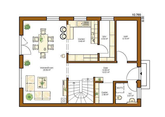 clou 136 grundriss erdgeschoss traum wohnung traum haus pinterest. Black Bedroom Furniture Sets. Home Design Ideas