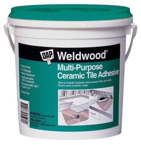 Dap 25190 Weldwood Multi Purpose Ceramic Tile Adhesive 1 Quart Adhesive Tiles Countertops Replacing Kitchen Countertops