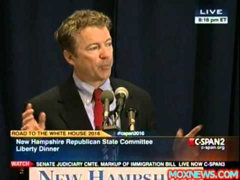 Rand Paul Call For Independent Commission On The IRS Targeting Of Te