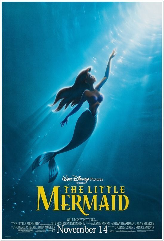 Little Mermaid 2 Sided Original 27x40 Disney Movie Poster R97 Advance Style Mermaid Poster Disney Movie Posters Mermaid Movies