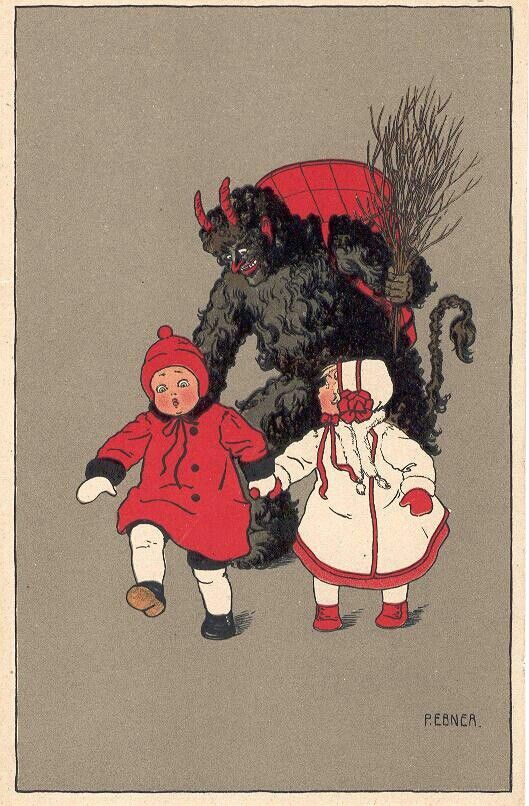 Pin By Stacee Shelly On Krampus Krampus Card Krampus Creepy Christmas